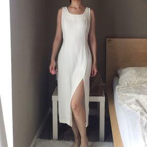 Vintage White Sleeveless Midi Dress Jaclyn Hart.